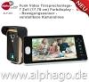 Funk- Video Türsprechanlage ALP-403 (nachfolge Modell ALP-400) NEU: verstellbare Kameralinse - 7 Zoll Farbdisplay - Drahtlose Gegensprechanlage - kabellose Installation - Bewegungssensor - Tür-Überwachung - erweiterbar bis zu 3 Monitore - Touchbuttons - Stromversorgung Wechsel (9-16V) Gleichspannung (5-16V) -