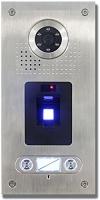 AE Farb-Videotürsprechanlage mit Fingerprint 2 Familie, Außeneinheit, Edelstahlfrontplatte, Unterputzmontage, silber, SAC562C-CKZ(2) -