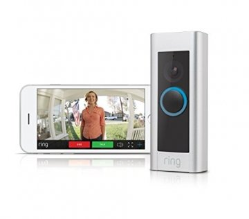 Ring Video Doorbell Pro - Video Türklingel Pro Set mit Türgong und Transformator, 1080p HD Video, Gegensprechfunktion, Bewegungsmelder, WLAN - 1